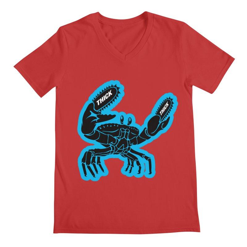 Crab On Acid Men's Regular V-Neck by Crab Saw Apparel