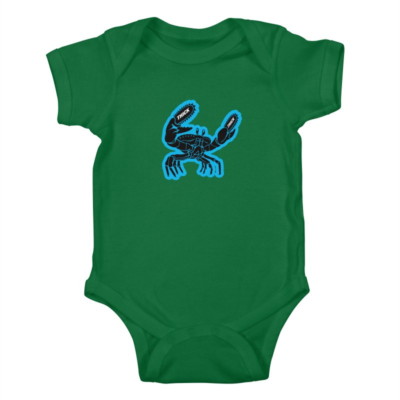 Crab On Acid Kids Baby Bodysuit by Crab Saw Apparel