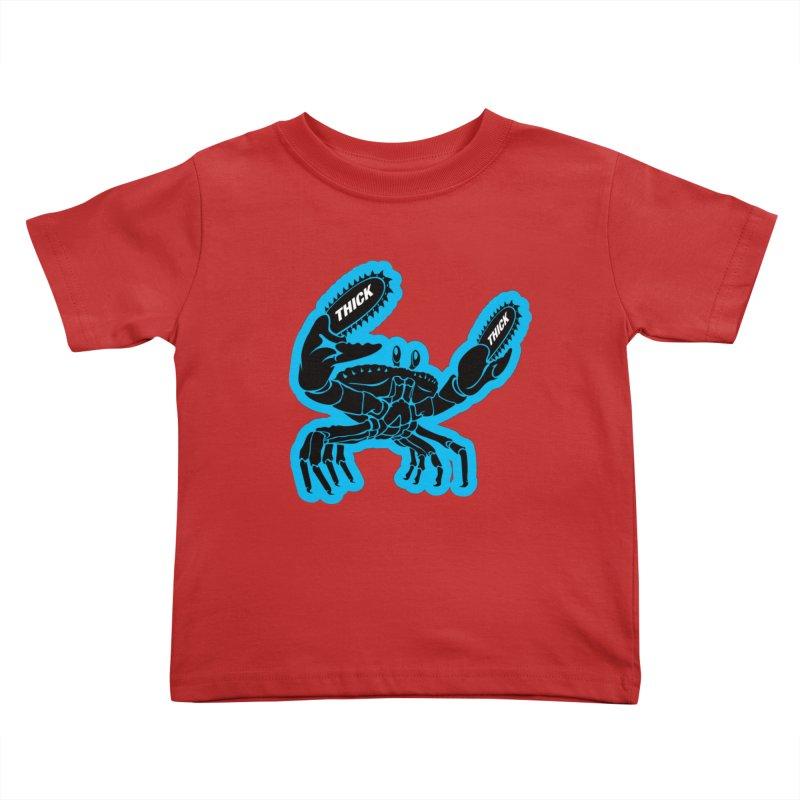 Crab On Acid Kids Toddler T-Shirt by Crab Saw Apparel