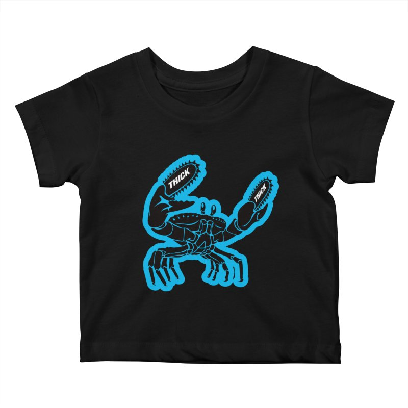 Crab On Acid Kids Baby T-Shirt by Crab Saw Apparel