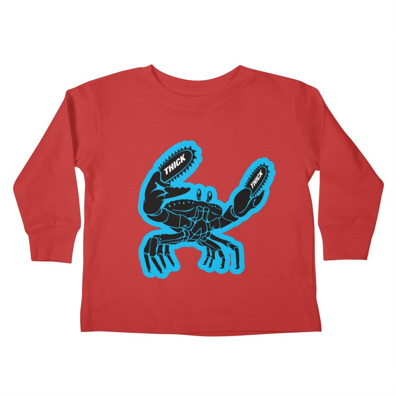 Crab On Acid Kids Toddler Longsleeve T-Shirt by Crab Saw Apparel