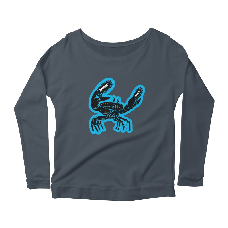 Crab On Acid Women's Scoop Neck Longsleeve T-Shirt by Crab Saw Apparel