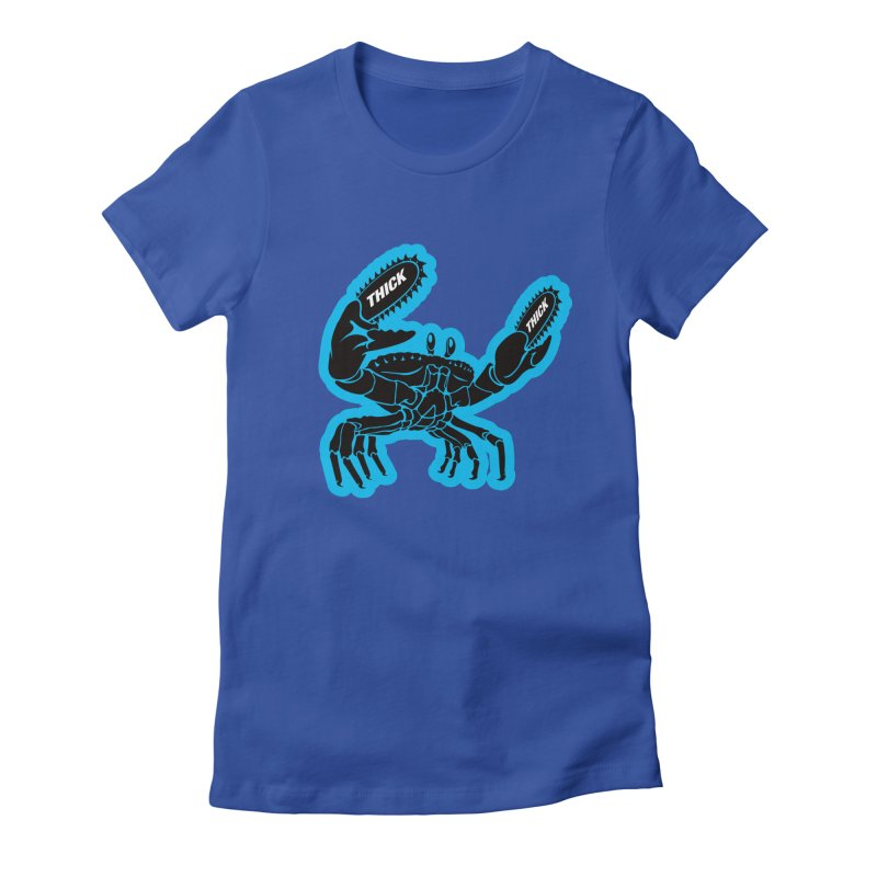 Crab On Acid Women's Fitted T-Shirt by Crab Saw Apparel