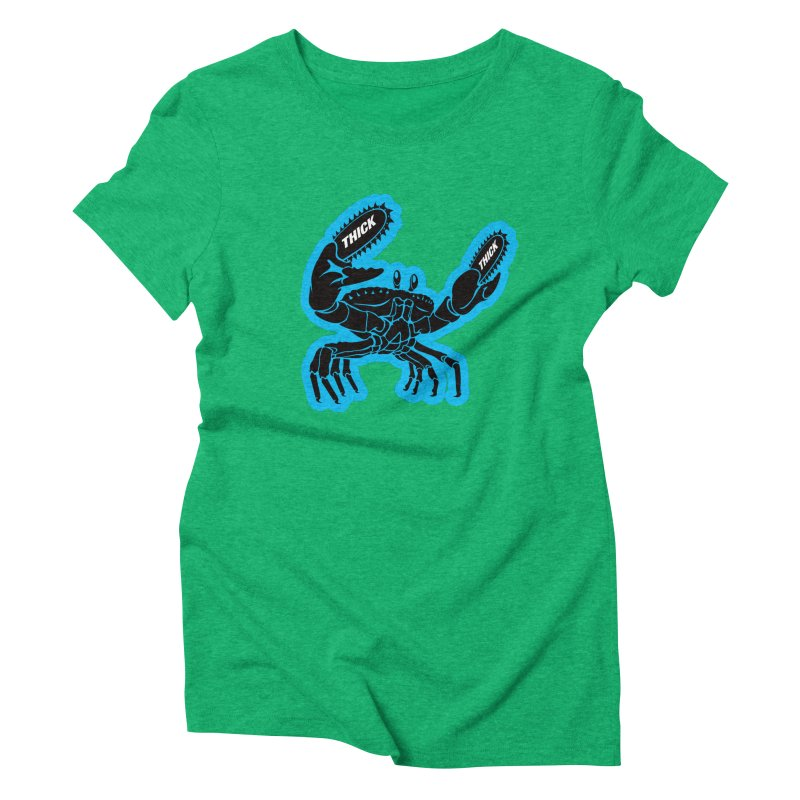 Crab On Acid Women's Triblend T-Shirt by Crab Saw Apparel
