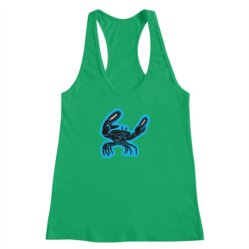 Crab On Acid Women's Racerback Tank by Crab Saw Apparel