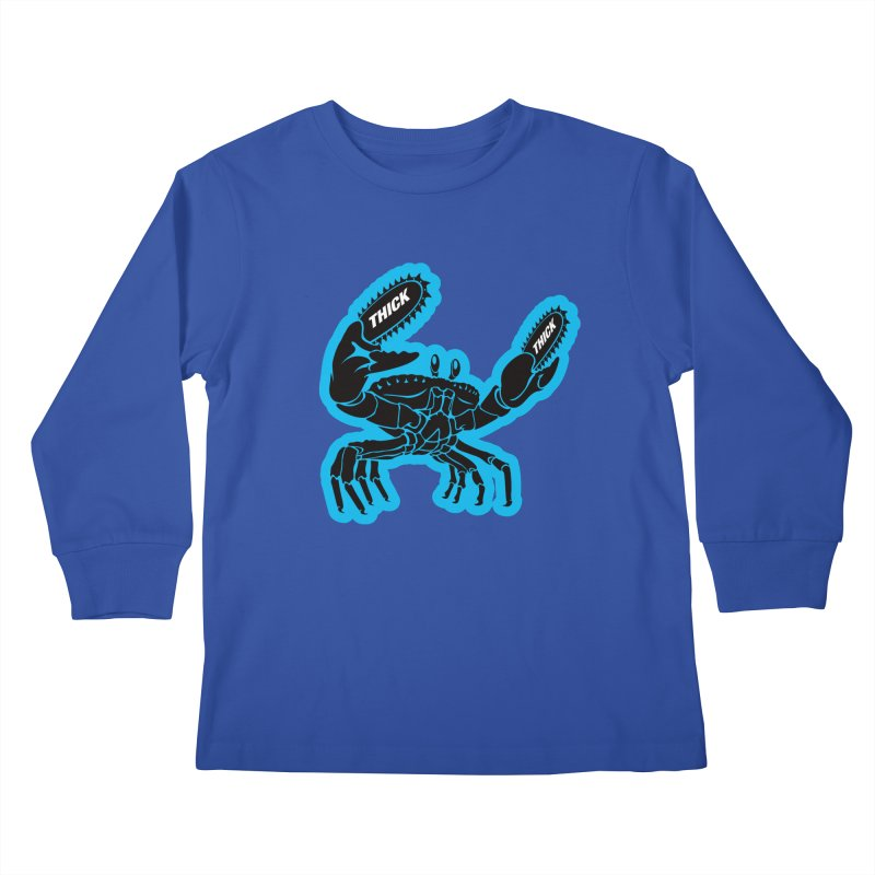 Crab On Acid Kids Longsleeve T-Shirt by Crab Saw Apparel