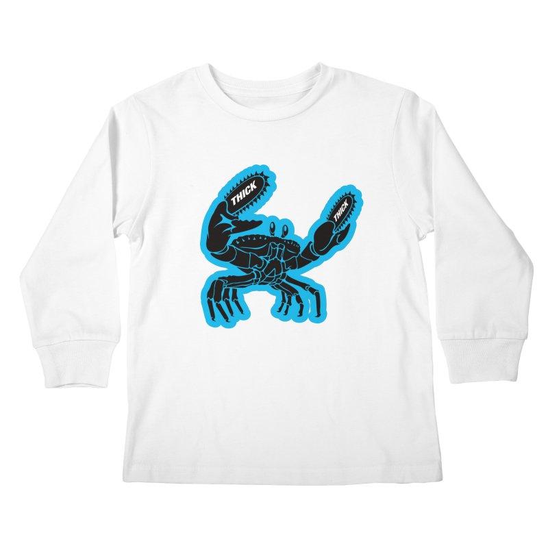 Crab On Acid Kids Longsleeve T-Shirt by Crab Saw Apparel