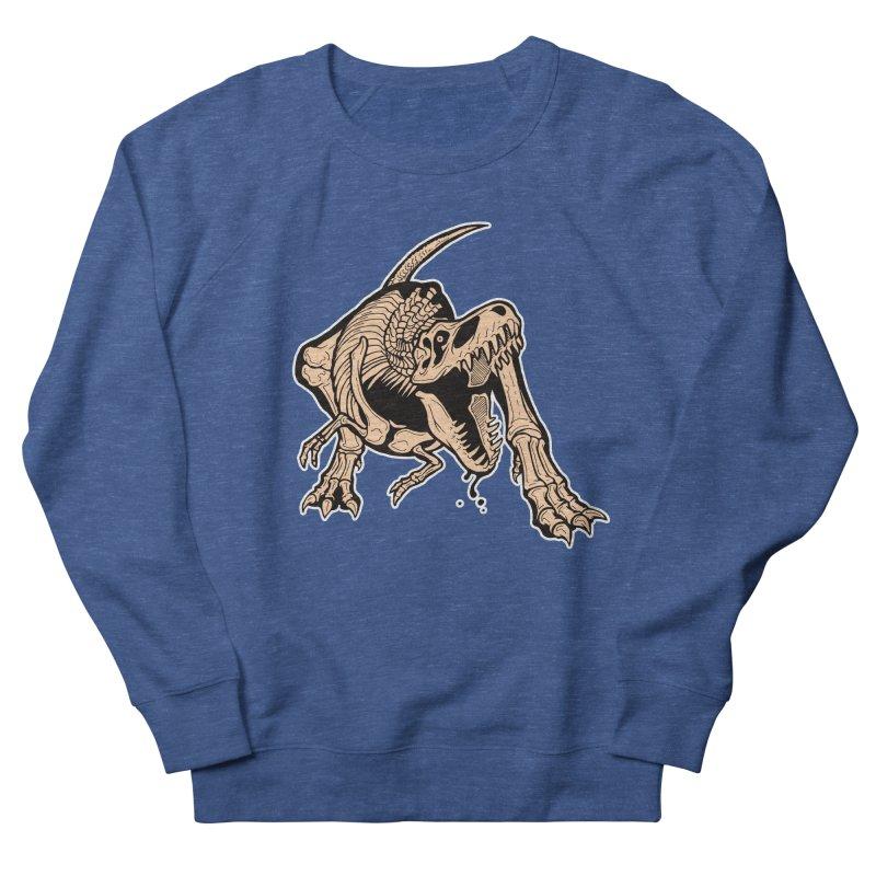 T-rex Men's Sweatshirt by Crab Saw Apparel