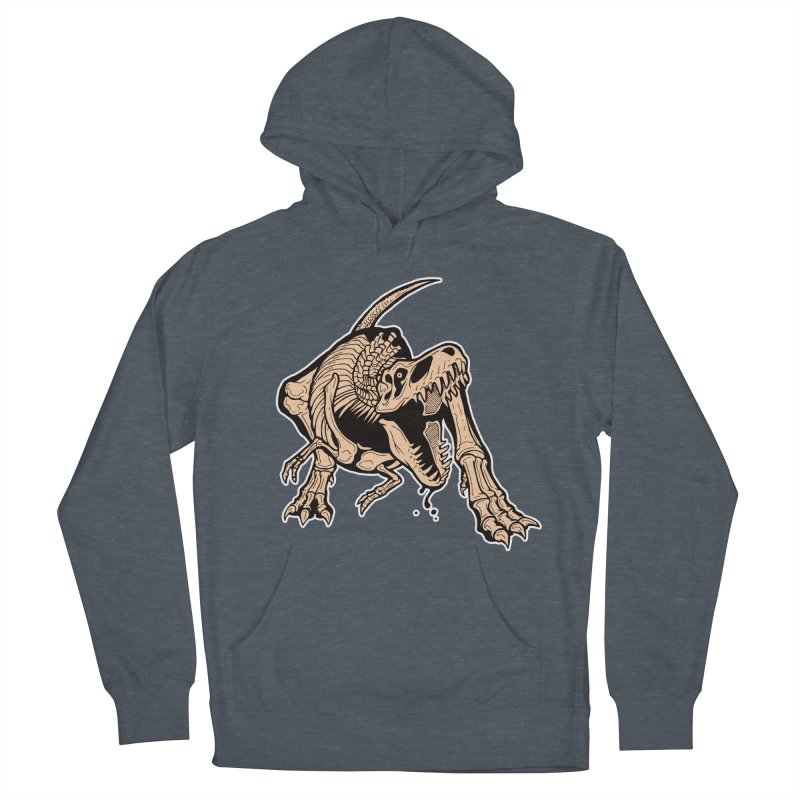 T-rex Women's French Terry Pullover Hoody by Crab Saw Apparel