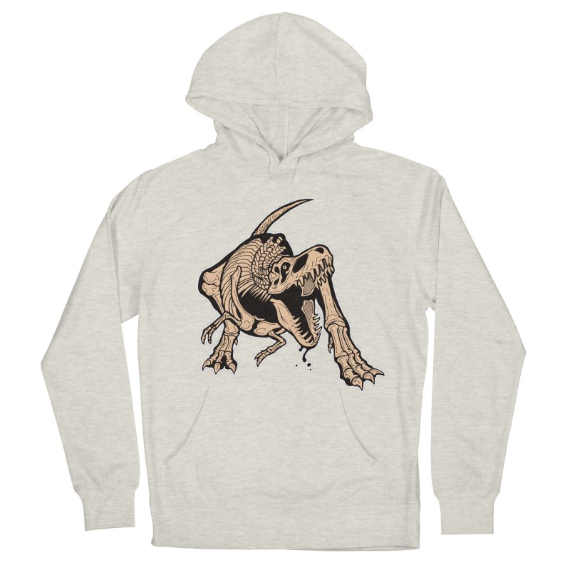 T-rex Men's French Terry Pullover Hoody by Crab Saw Apparel