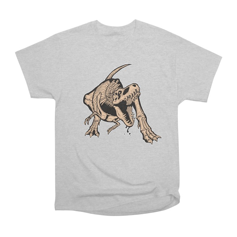 T-rex Men's Heavyweight T-Shirt by Crab Saw Apparel