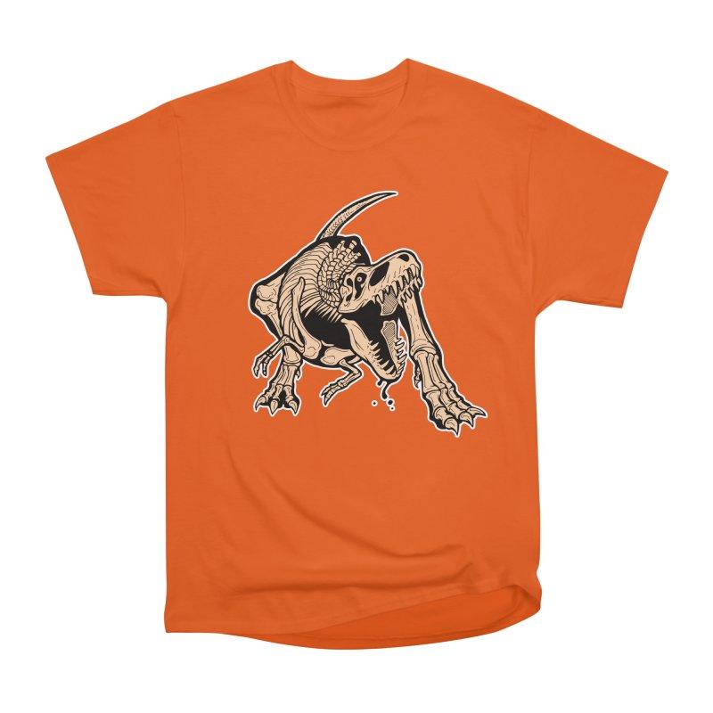 T-rex Women's Heavyweight Unisex T-Shirt by Crab Saw Apparel