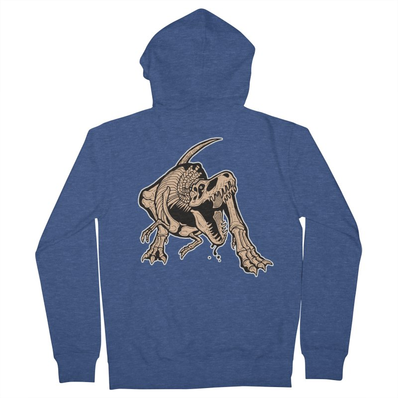 T-rex Women's French Terry Zip-Up Hoody by Crab Saw Apparel