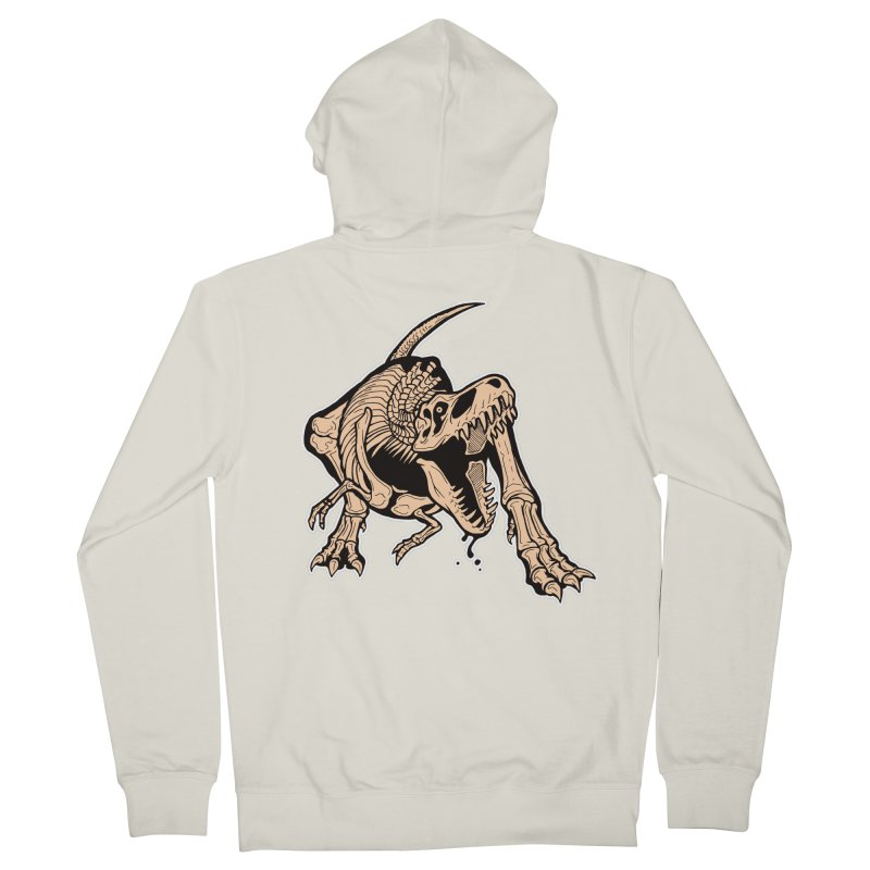 T-rex Men's French Terry Zip-Up Hoody by Crab Saw Apparel