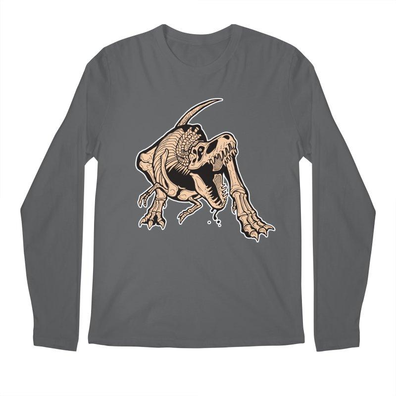 T-rex Men's Regular Longsleeve T-Shirt by Crab Saw Apparel