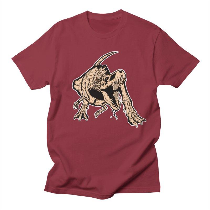 T-rex Men's T-Shirt by Crab Saw Apparel