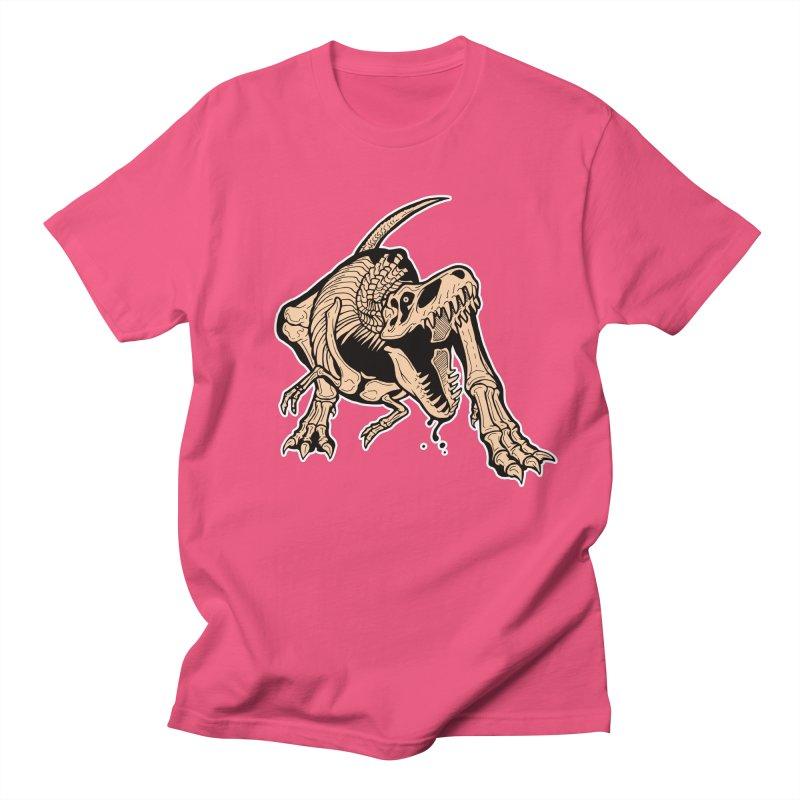 T-rex Men's Regular T-Shirt by Crab Saw Apparel