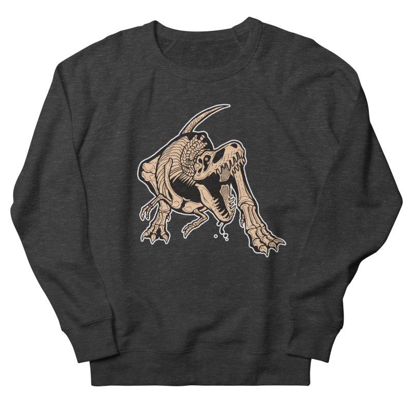 T-rex Women's French Terry Sweatshirt by Crab Saw Apparel