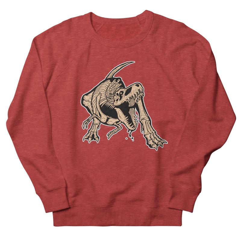 T-rex Men's French Terry Sweatshirt by Crab Saw Apparel