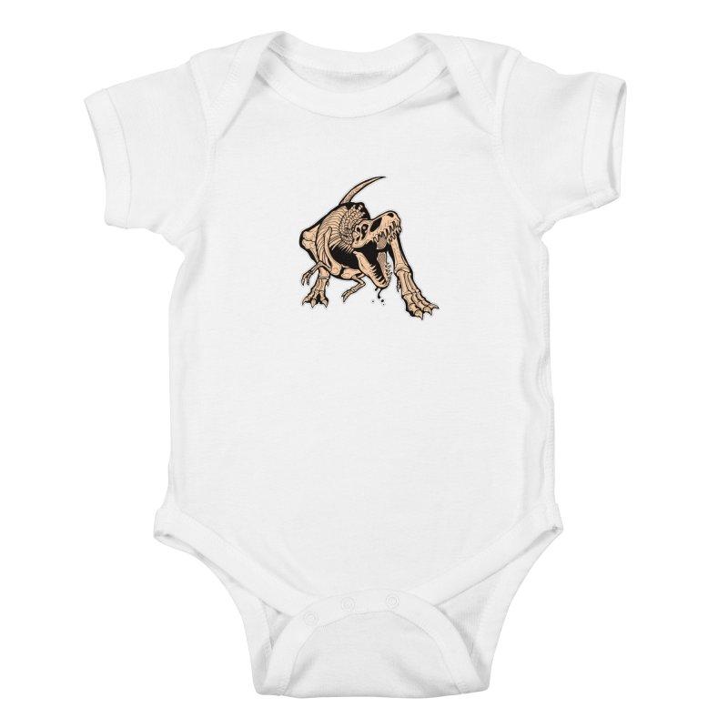 T-rex Kids Baby Bodysuit by Crab Saw Apparel