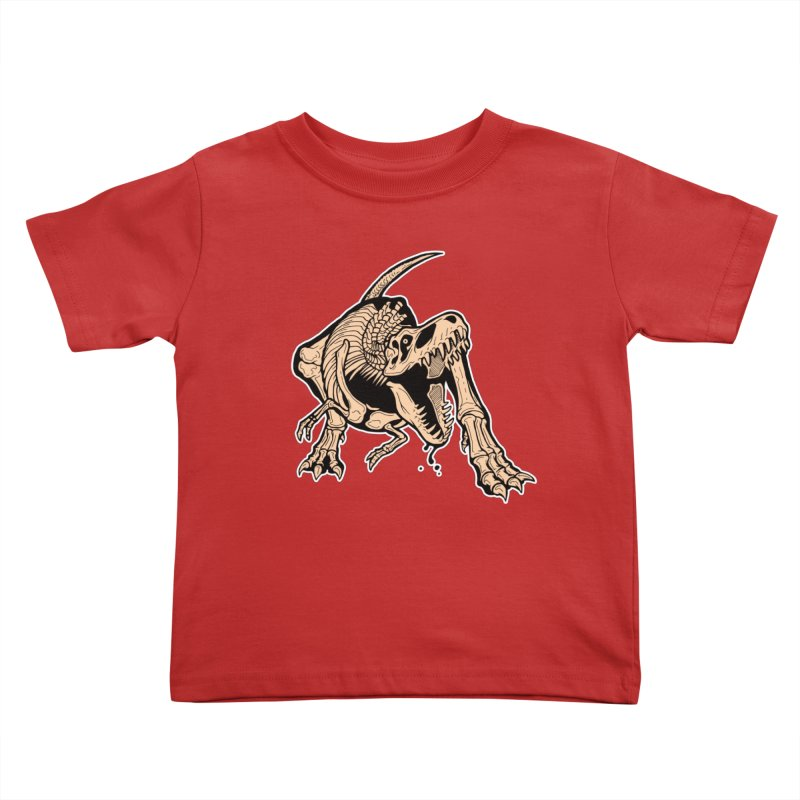 T-rex Kids Toddler T-Shirt by Crab Saw Apparel