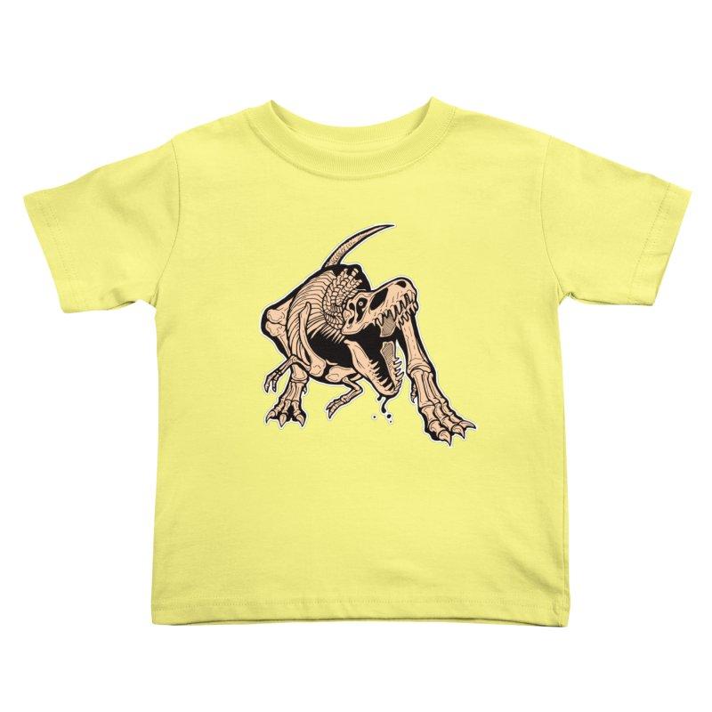 T-rex Kids Toddler T-Shirt by Crab Saw Apparel