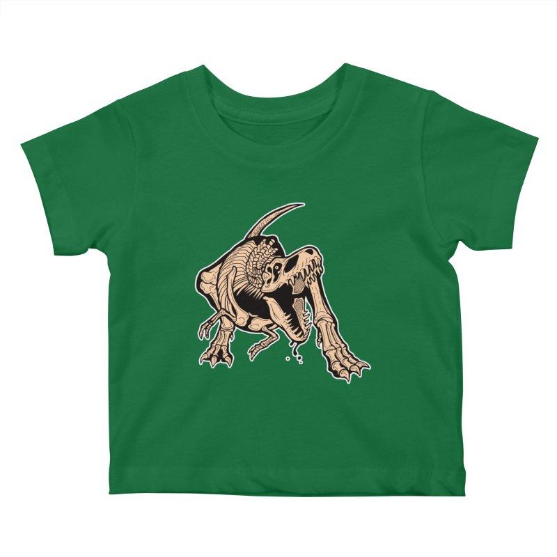 T-rex Kids Baby T-Shirt by Crab Saw Apparel
