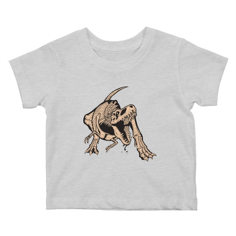 T-rex Kids Baby T-Shirt by Crab Saw Apparel