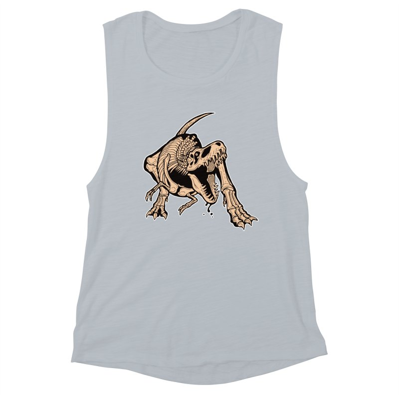 T-rex Women's Muscle Tank by Crab Saw Apparel