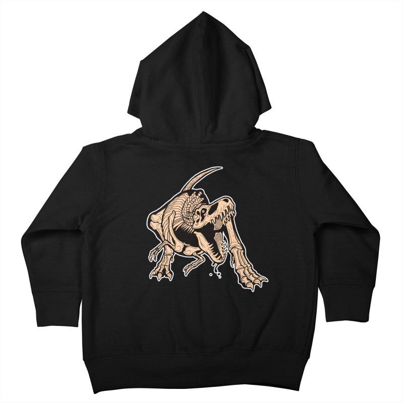 T-rex Kids Toddler Zip-Up Hoody by Crab Saw Apparel