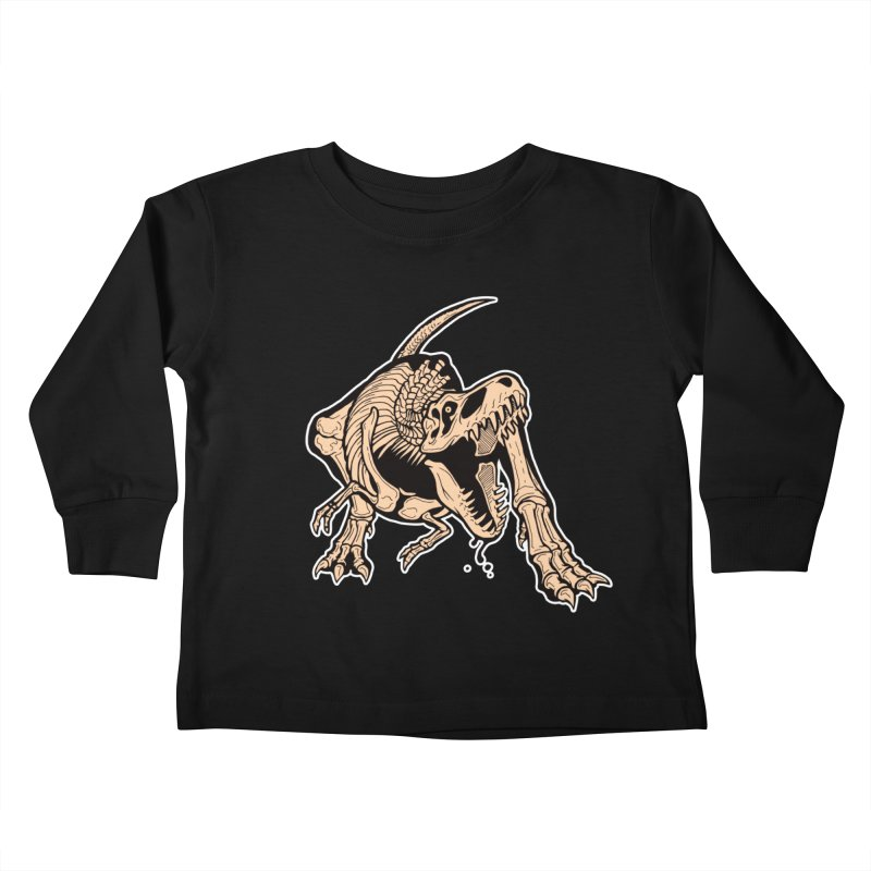 T-rex Kids Toddler Longsleeve T-Shirt by Crab Saw Apparel