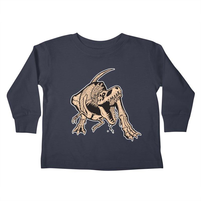 T-rex Kids Toddler Longsleeve T-Shirt by Crab Saw Apparel