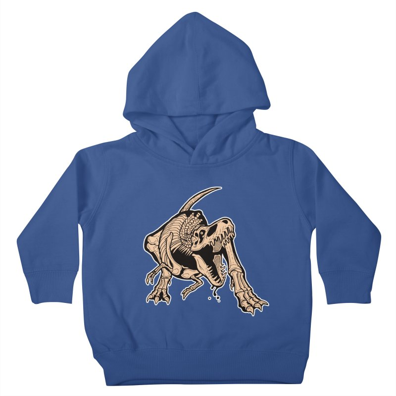 T-rex Kids Toddler Pullover Hoody by Crab Saw Apparel