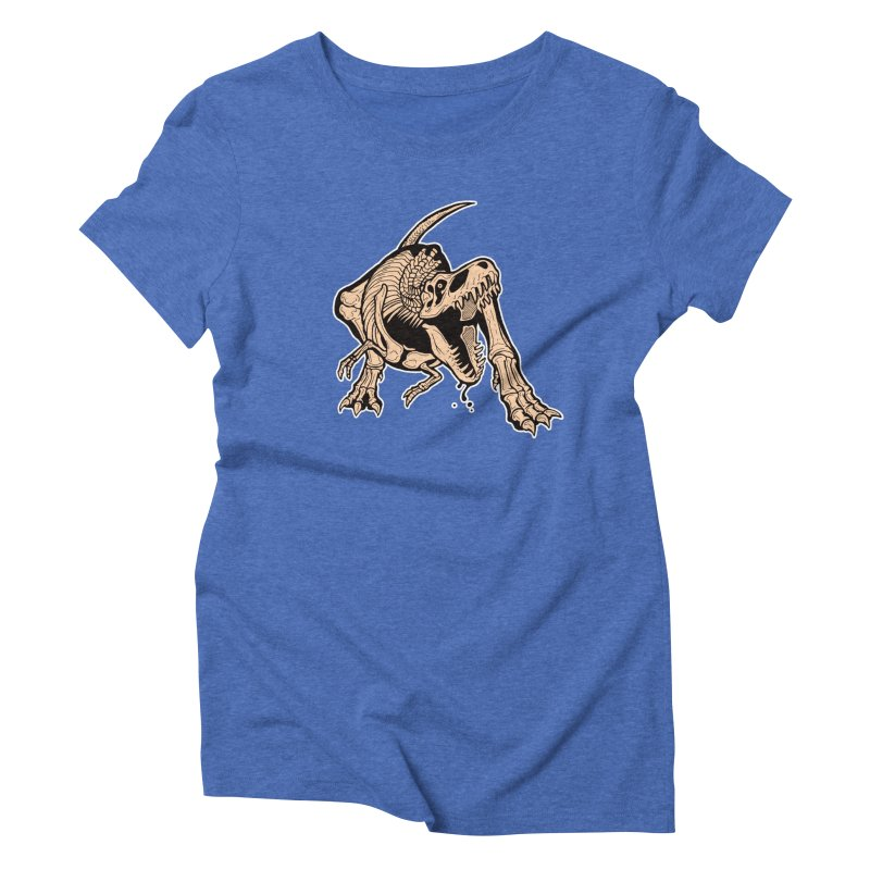 T-rex Women's Triblend T-Shirt by Crab Saw Apparel