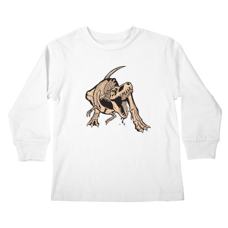 T-rex Kids Longsleeve T-Shirt by Crab Saw Apparel