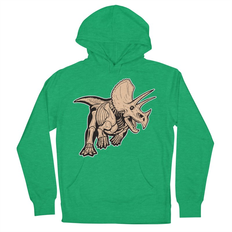 Triceratops Men's French Terry Pullover Hoody by Crab Saw Apparel
