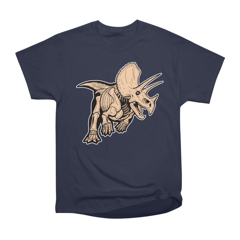 Triceratops Men's Heavyweight T-Shirt by Crab Saw Apparel