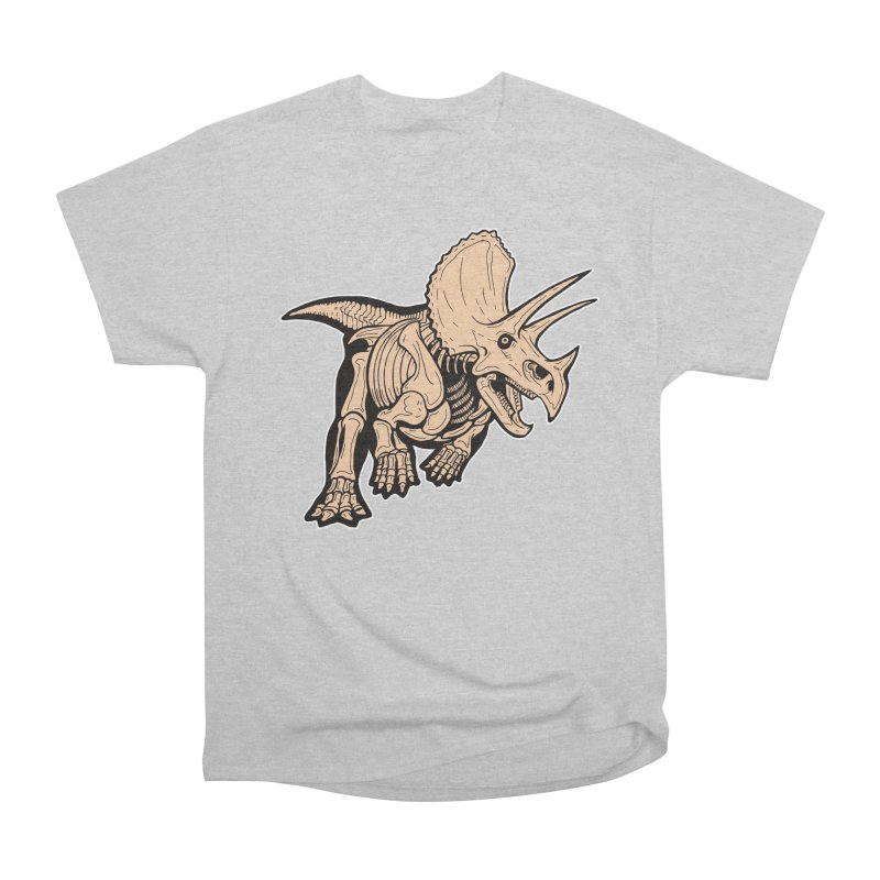 Triceratops Women's Heavyweight Unisex T-Shirt by Crab Saw Apparel