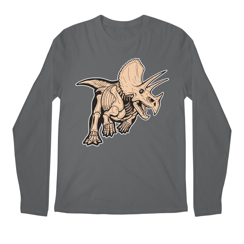 Triceratops Men's Longsleeve T-Shirt by Crab Saw Apparel