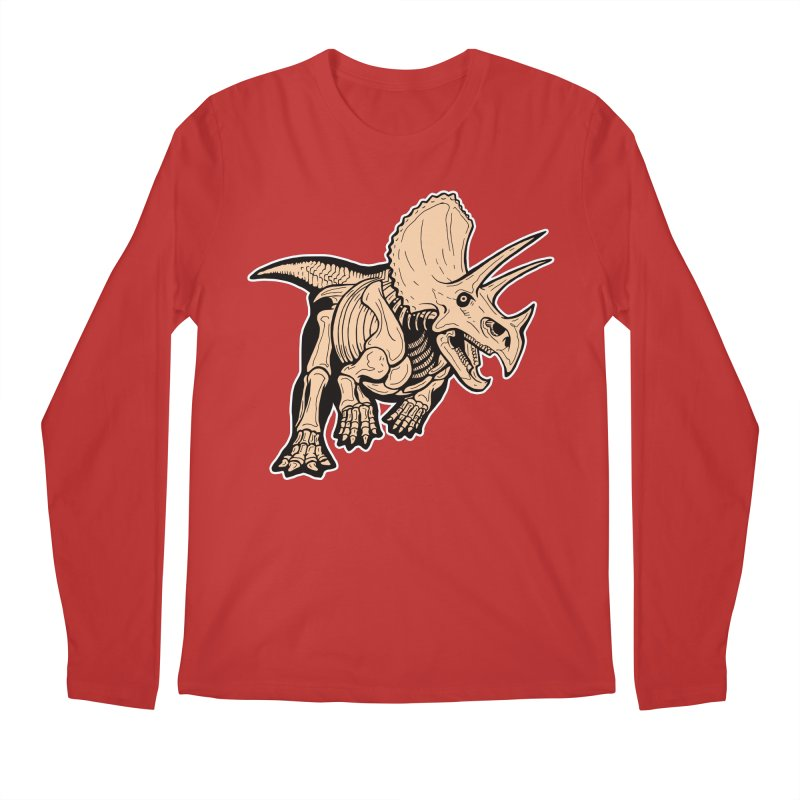 Triceratops Men's Regular Longsleeve T-Shirt by Crab Saw Apparel