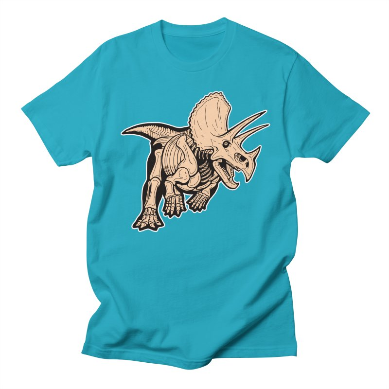 Triceratops Men's T-Shirt by Crab Saw Apparel
