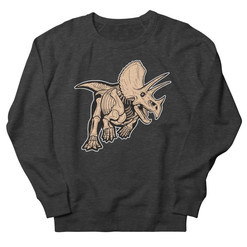 Triceratops Women's French Terry Sweatshirt by Crab Saw Apparel