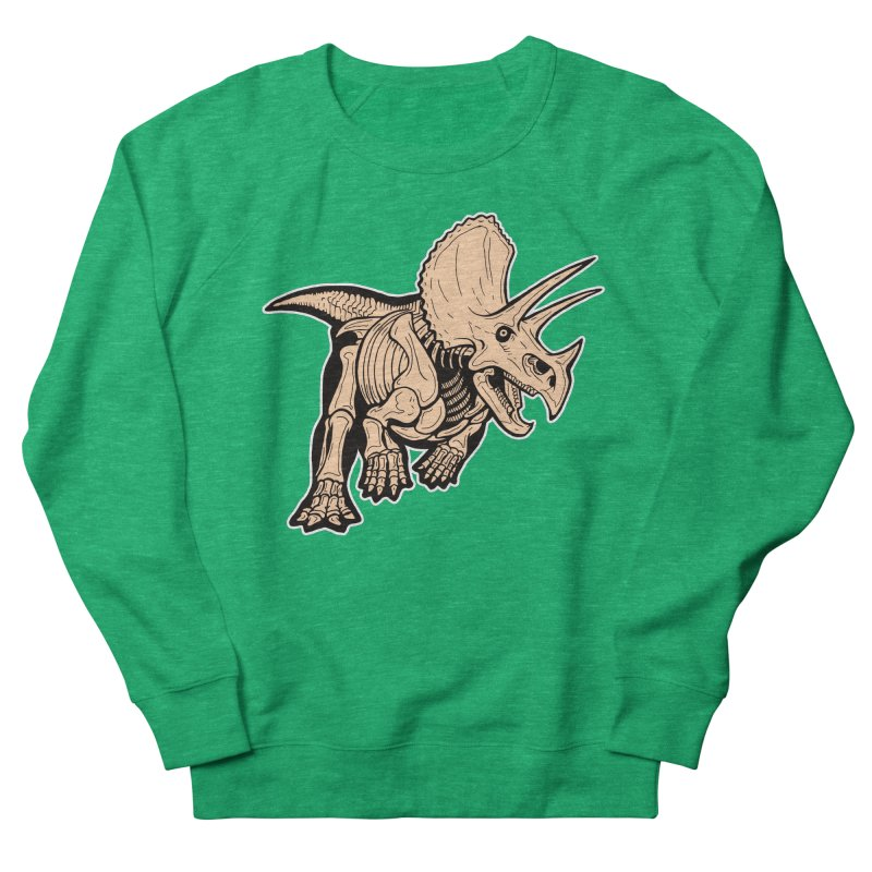 Triceratops Men's French Terry Sweatshirt by Crab Saw Apparel