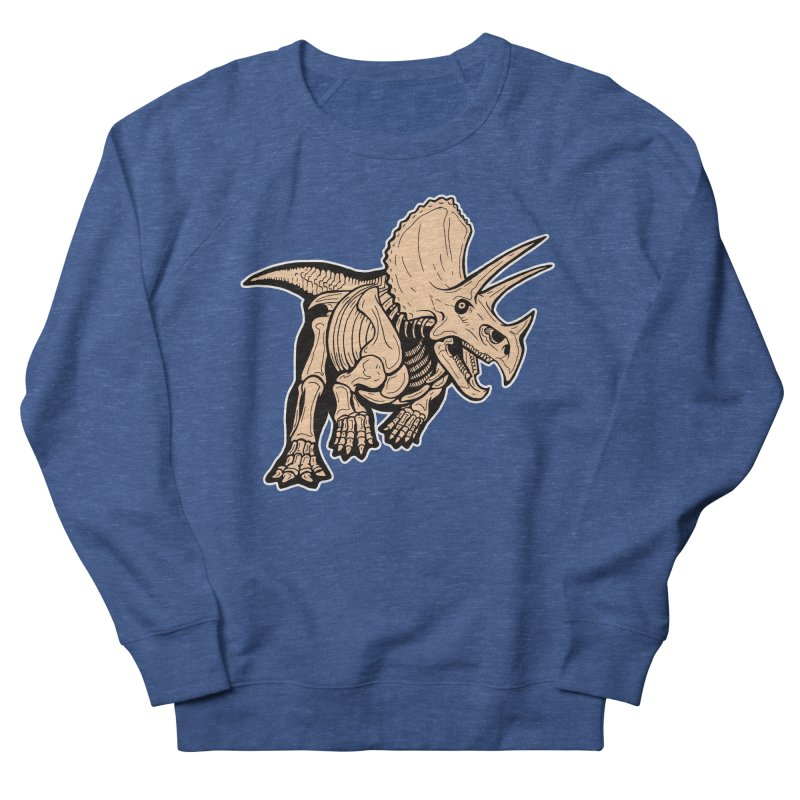 Triceratops Men's Sweatshirt by Crab Saw Apparel