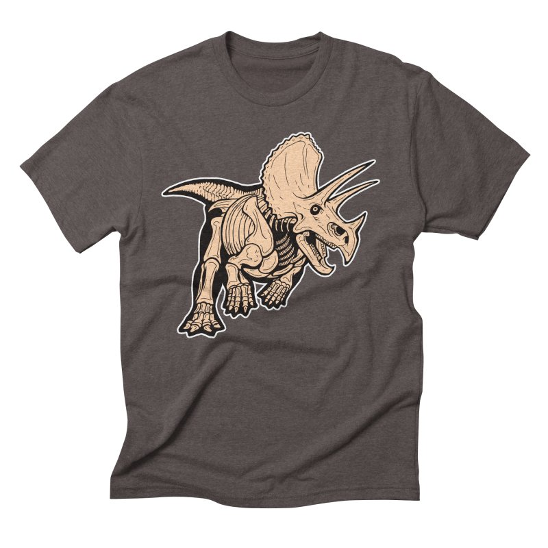 Triceratops Men's Triblend T-Shirt by Crab Saw Apparel