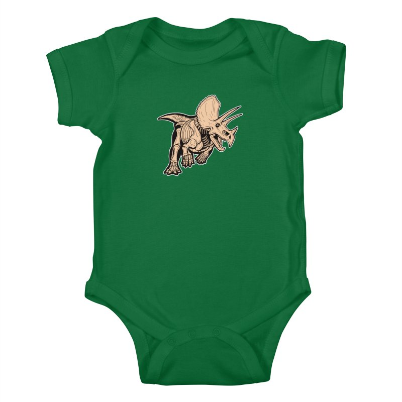 Triceratops Kids Baby Bodysuit by Crab Saw Apparel