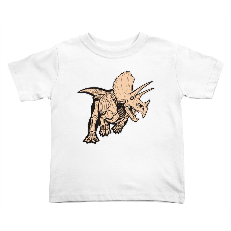Triceratops Kids Toddler T-Shirt by Crab Saw Apparel