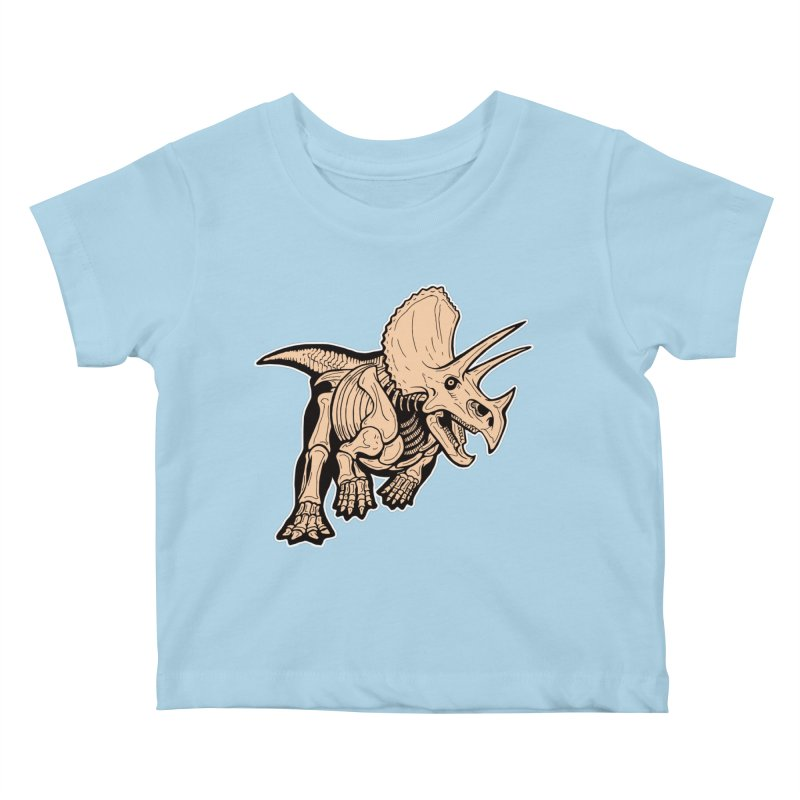 Triceratops Kids Baby T-Shirt by Crab Saw Apparel