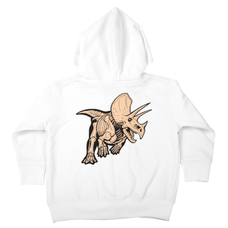 Triceratops Kids Toddler Zip-Up Hoody by Crab Saw Apparel