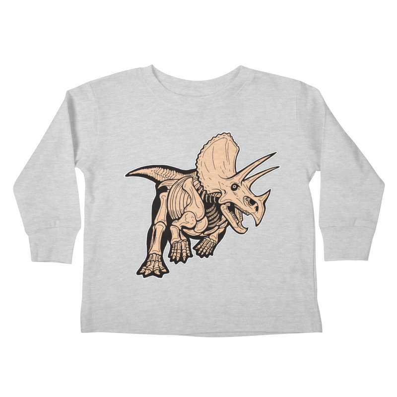 Triceratops Kids Toddler Longsleeve T-Shirt by Crab Saw Apparel